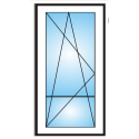 Porta finestra a 1 anta con traverso 5 camere