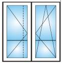 Porta finestra a 2 ante con traverso Ovlo 6 camere