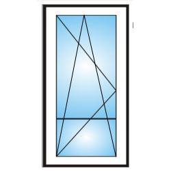 Porta finestra a 1 anta con traverso