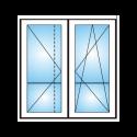 Porta finestra a 2 ante con traverso Renovo