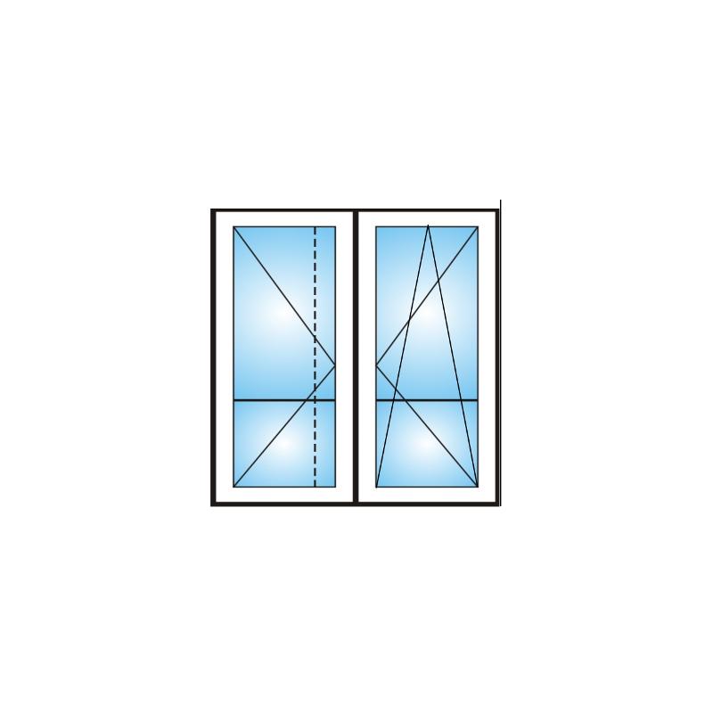 Porta finestra a 2 ante con traverso 5 camere - Finestra a 2 ante ...