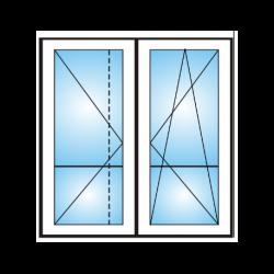 Porta finestra a 2 ante con traverso  da  Ristrutturazione