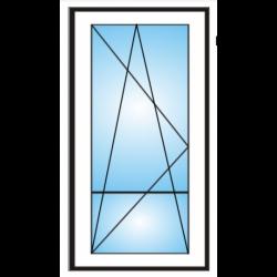 Porta finestra a 1 anta con traverso  da  Ristrutturazione