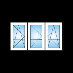 Porta finestra a 3 ante con traverso da  Ristrutturazione