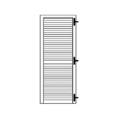 Porta persiana a 1 anta con cardine a muro