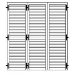 Porta persiana a 3 ante Classika