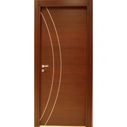Porta  interna in laminato con inserti in pvc
