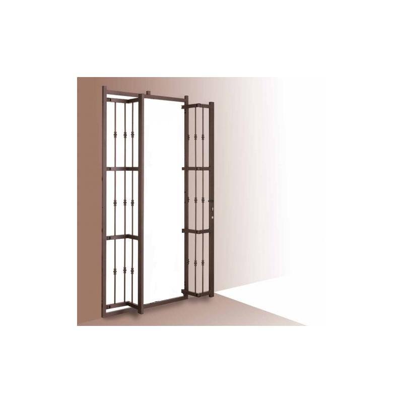Grata porta finestra a due ante apribile con snodo - Dimensioni porta finestra 2 ante ...